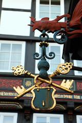 SCHLOSSEREI STRÜBING (Rick & Bart) Tags: goslar germany deutschland niedersachsen city urban rickvink rickbart canon eos70d historic architecture unescoworldheritagesite schlossereistrübing schlosserei locksmith sign