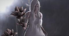 Celestial Dream (Miru in SL) Tags: second life sl mesh avatar dream goth gothic art girl woman white dead dollz rainbow sundae olive hair serendipity poses
