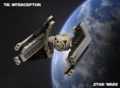 SW Microfighters: TIE Interceptor (Ben Cossy) Tags: lego moc afol tfol empire imperial tie fighter star wars return the jedi