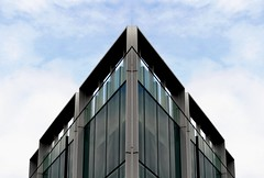 The Point (scinta1) Tags: newzealand christchurch city architecture building abstract rectangles lines reflection flipped angles sky point windows urban down