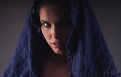 Pavlina and the Blue Scarf (RickB500) Tags: portrait rickb rickb500 beauty guenuche guenuchebook pavlina model cute hair czech nudeart