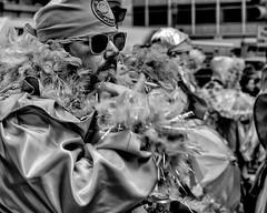 Mummers New Years Day Parade, 2020 (Alan Barr) Tags: philadelphia mummer mummersparade 2020 parade costume newyear street sp streetphotography streetphoto blackandwhite bw blackwhite mono monochrome candid color people olympus omd em1ii cigarette