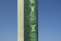 Green tower (Jan van der Wolf) Tags: map200419v rotterdam architecture architectuur toren tower reflection spiegeling worldtradecenterrotterdam wtc beurs debeurs