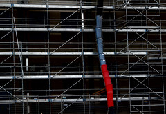 Work in Progress, Christchurch, NZ (scinta1) Tags: newzealand christchurch city architecture building abstract rectangles lines urban shapes red blue contrast