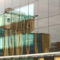 In the light of day (scinta1) Tags: newzealand christchurch city architecture building abstract rectangles lines reflection glass light colour windows urban