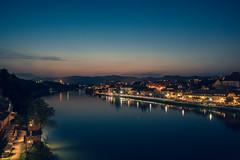 The Drava River (The Hobbit Hole) Tags: maribor slovenia z6 nikon bridge river 2470mm40s mountains nikkor bluehour