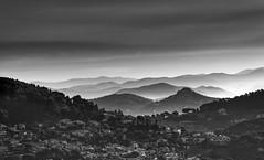 Toulon Hills (hbensliman.free.fr) Tags: travel landscape outdoor france mediterranean black white pentax pentaxart mountains hills