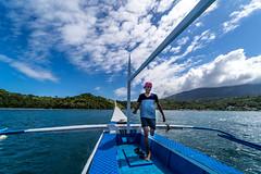 Puerto Galera-171 (walterkolkma) Tags: philippines mindoro island beach corals puertogalera whitebeach aninuan tamaraw banca outrigger boat ship sunny skies palm kolkma sony a7iii