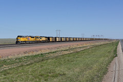 Union Pacific 9084 Bill/Wyoming (Gridboy56) Tags: usa unionpacific up america locomotive locomotives trains train railways railroad railfreight emd wagons freight coal cargo bill wyoming 9084 6731 7468