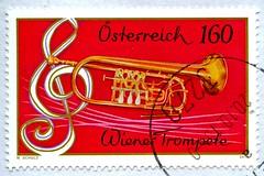 great stamp Austria 160c Wiener Trompete (Viennese Trumpet, Trompette de Vienne, Венская труба, 维也纳小号, Wenen trompet, Trąbka wiedeńska, ウィーンのトランペット, Wien trompet, Trompeta de viena, Trompete de viena) postage timbre Autriche selo sello francobollo Austria (stampolina, thx for sending stamps! :)) Tags: vienna אוסטריה النمسا österreich austria autriche 奥地利 østrig oostenrijk itävalta αυστρία ऑस्ट्रिया ausztria オーストリア 오스트리아 østerrike австрия аустрија rakúsko rakousko avstrija österrike ออสเตรีย avusturya austrija austurríki stamps selyo stamp 切手 briefmarke briefmarken スタンプ postzegel zegel zegels марки टिकटों แสตมป์ znaczki 우표 frimærker frimärken frimerker 邮票 طوابع bollo francobollo francobolli bolli postes timbres sello sellos selo selos razítka γραμματόσημα bélyegek markica маркица pulları perangko timbre pulu timbresposte red gold music musik wien trompete trumpet trompette trompeta