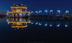 Holidays Happy Ending. (Emykla) Tags: bacoli napoli nikond7500 nikon bluehour longexposure night notte evening sunset tramonto sera blue blu casina casinavanvitelliana fusaro ponte bridge italy italia luci lights campania campiflegrei dcf