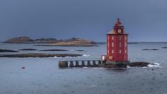 before the storm (nhoremans1969) Tags: hurtigruten noorwegen cruise lighthouse storm speciallight greysky seascape