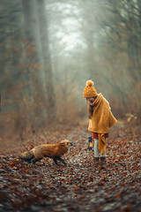 Where are you going? (agirygula) Tags: fox animal girl forest winter rain raindrops littlefox nature natural