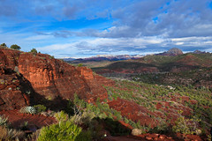 Bright day in Sedona (irmur) Tags: arizona usa sedona red rock sky clouds blue mountains