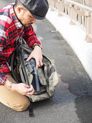 PC211174 (a9825bon) Tags: ol olympus em1 m43 75mm 1240 jeansda redwing 9268 oris 65 workpants leathercap family selfie 兒童新樂園 帥爸 shuaibar wontancraft nomad