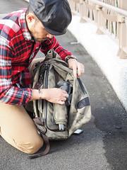 PC211168 (a9825bon) Tags: ol olympus em1 m43 75mm 1240 jeansda redwing 9268 oris 65 workpants leathercap family selfie 兒童新樂園 帥爸 shuaibar wontancraft nomad