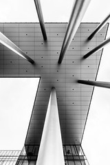 7 (Bence Boros) Tags: blackwhite bw monochrome abstract seven building architecture ceiling poles pole windows structure highkey dots shadows budapest hungary