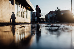 Slush (ewitsoe) Tags: 35mm everydaymoments nikon street warszawa winter citylife erikwitsoe poland urban warsaw city life vignettes people shadows