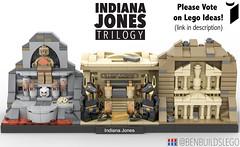 Indiana Jones Trilogy (LEGO Ideas) [2] (BenBuildsLego) Tags: lego ideas indiana jones micro benbuildslego history historical microscale cool design marion ravenwood billund denmark movie movies classic 1980 1980s fedora vote architecture skyline beautiful india europe european travel harrison ford