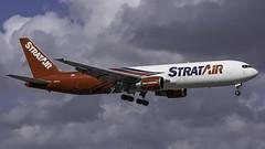 N351CM_MIA_Landing_9 (MAB757200) Tags: nac b767323erf n351cm aircraft airplane airlines airport jetliner mia kmia boeing landing runway9 nikon stratair teamworkthatdelivers