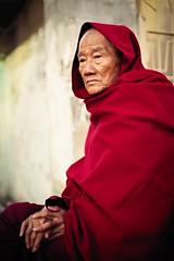 A portrait of an old monk (snowpine) Tags: street streetphotography streetportrait people portrait monk mandalay myanmar candid sitting nikon nikond850