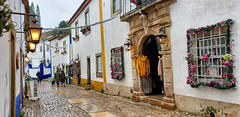 Óbidos (Arimm) Tags: arimm óbidos medieval city old street cobble sett pavement lamp portugal