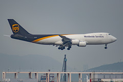 N613UP United Parcel Service (UPS) Boeing 747-8F (Tat Lau) Tags: ups hkg b747 boeing vhhh cargo aircraft airport