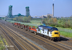 37137 'Clyde Iron' (chrissyMD655) Tags: class 37 37137 newport bridge teesside middlesborough tractor railfreight grey
