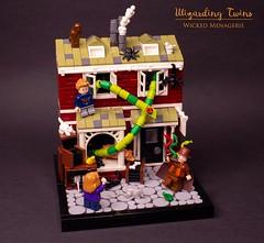 Wizarding Twins - Wicked Menagerie (N-11 Ordo) Tags: wicked menagerie wizarding harrypotter wizardingworld animal lego legomoc legomania legobuild legobuilder ordobuilds n11ordo sorcery witch wizard wizardingtwins pets petshop legovignette vignette owl moc build bricks brickbuilt wand diagonalley