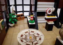 Maritime Museum MOC. Ground floor exhibitions. (betweenbrickwalls) Tags: lego museum exhibition maritime lighthouse compass toys legophotography interior legointerior