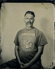 Doug - Flash Test I (Silver and Iron Tintype) Tags: senecaimprovedview largeformat 4x5 wetplatecollodion paulcbuff whitelightningx3200 buhloptical9inch229mmf36 projectionlens projectorlens newguycollodion epsonv700 newguypositivecollodion tintype alumitype flash coppersulfatedeveloper
