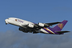 HS-TUB Airbus A380-841 EGLL 13-12-19 (MarkP51) Tags: hstub airbus a380841 a38 thai thaiairways tg tha london heathrow airport lhr egll england airliner aircraft airplane plane image markp51 nikon d500 nikonafp70300fx sunshine sunny
