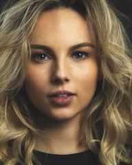 Keziah (brianjdavies) Tags: studiolighting portrait blonde browneyes lips hair canon135mmf2l face beauty female femme gaze beautifuleyes