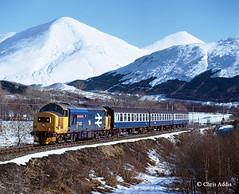 Highland Queen (chrissyMD655) Tags: class 37 37401 west highland line br large logo scotland tractor