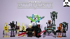 Star Wars Battlefront 2 - The CIS (HaphazardPanda) Tags: lego figs fig figures figure minifigs minifig minifigures minifigure purist purists character characters films film movie movies tv star wars enforcer aerial specialist officer heavy assault sith jedi battlefront 2 ii the resistance first order cis separatists separatist alliance infiltrator commando droid count dooku general grevious darth maul droideka b2rp rocket geonosis b2 super battle
