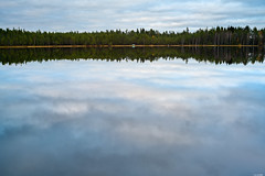 Upside down? (Rico the noob) Tags: dof z7 landscape finland water 35mmf24 outdoor lake 35mm clouds trees mf tree travel forest sky published nature 2019 manualfocus reflection