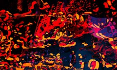 miasmic cloudset (video still) (fibreman) Tags: uk manchester video still excerpt psychedelic blue red building art film digital amber space perspective drug cosmic autism blobs overload sensory music composite 3d distorted lofi layers