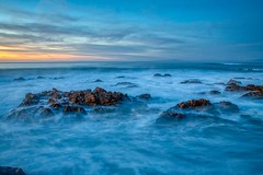 Asilomar State Beach, Pacific Grove, California (rocinante11) Tags: ocean water beach sunset coastal asilomarstatebeach pacificocean blue waves rocks pacificgrove california unitedstates 500v20f