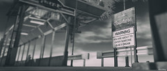 nowhere. no where? now here! (Mara Telling:) Tags: secondlife sl altitude nowhere bw