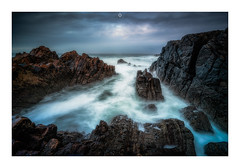 A Dark Change (Augmented Reality Images (Getty Contributor)) Tags: nisifilters benro canon cliffs clouds coastline cullen hightide landscape logiehead longexposure morayfirth morayshire rocks scotland seascape storm water waves winter