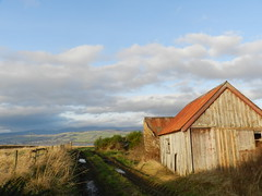 Red Roof, Culbokie, New Years Day 2020 (allanmaciver) Tags: red roof culbokie black isle highlands ben wyvis tracks wet muddy clouds shade shadow sunshine fencce allanmaciver