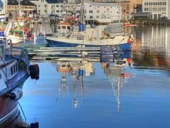 Harbour_Honningsvag_Norway_Oct19 (Ian Halsey) Tags: mirrorimage honningsvagnorway visitnorway honningsvagharbour waterreflection copyright:owner=ianhalsey flickr:user=ianhalsey location:norway=honningsvag exif:model=panasonictz90 marellacruises marellacruisesnorway