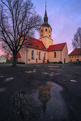 Gotteshaus (Tofubratwurst) Tags: church kirche stadtkirchebrandis tofubratwurst reflection spiegelung pfütze fe1635mmf4zaoss sonyfe1635mmf4zaoss sonyalpha7rm2 sonyilce7rm2 leipzigerland gotteshaus sachsen ostdeutschland