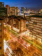 Magical Lights (Ellen van den Doel) Tags: november rotterdam city nederland blaak16 netherlands dak 2019 stad view blaak evening bluehour avond