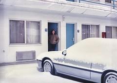 Cincinnati Ohio - Travelodge Motel  - Snowed over Night - Vintage Photo (Onasill ~ Bill Badzo - New Format) Tags: onasill cincinnati ohio travelodge motel vintage photo winter snow prelude honda 1990 grey ruthbadzo