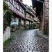 Sur les pavés humides de Eguisheim
