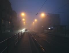 Waking Early Again I (vaclav-vancura) Tags: night dawn light fog commute transport transportation prague