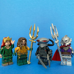 I got some new Tridents (Andrew Cookston) Tags: lego dc comics aquaman mera oceanmaster blackmanta custom minifigs andrewcookston
