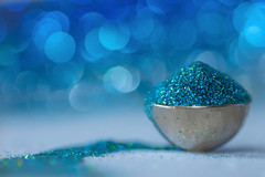 a bowful of magic (Emma Varley) Tags: macromondays contained button bowl silver glitter blue magic still indoor stilllife