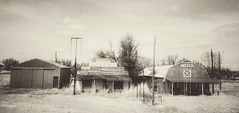 (closed)business row.... (BillsExplorations) Tags: ghosttown closed abandoned forgotten shuttered mainstreet oklahoma monochromemonday sepia old vintage stephenking thestand
